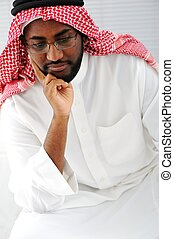 Arabic man thinking