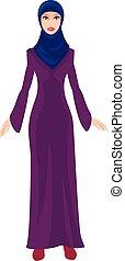 muslim woman - Arabic, muslim woman in Hijab and traditional...