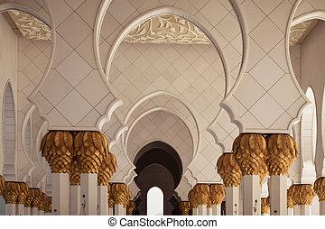 Arabic oriental islamic style geometric pattern wall.
