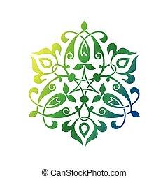 Arabic oriental ornament, floral pattern motif, arabesque, ...