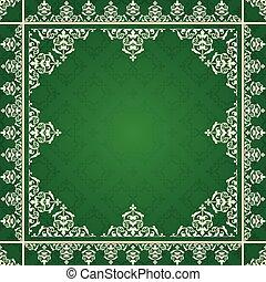 arabic ornament on green background