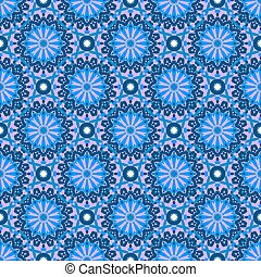 Arabic ornament with abstract flowers - Vector seamless...