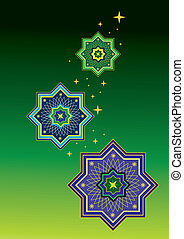 Arabic pattern background icon
