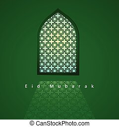 Arabic pattern on mosque window - Graphic illustration of...