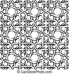Arabic pattern. Seamless vector background.
