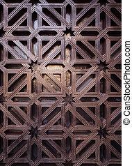 arabic pattern texture at Mosque Cordoba, Spain