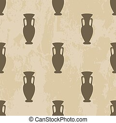 Arabic seamless pattern vase