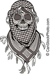 arabic skull with black shemagh