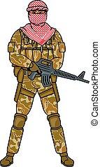 arabic soldier