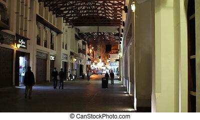 Arabic street market in bahrain