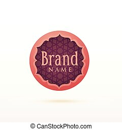 arabic style logo design template