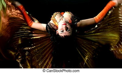Arabic woman dancer flap with wing - Arabic woman dancer...