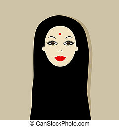 Arabic woman portrait for your design