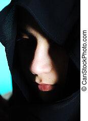 Arabic woman under veil