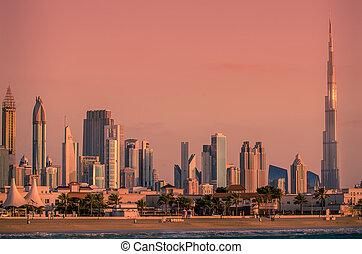 arabier, downtown, verenigd, emiraten, dubai