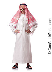 arabier, witte , vrijstaand, man