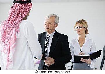 arabische , zakenmens , op, vergadering
