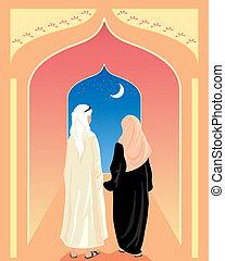 arabisches , paar