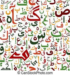 arabisches , seamless, drehbuch, muster