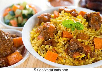 arabiska, ris