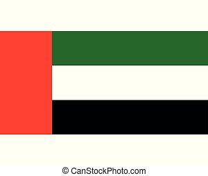 arabo, bandiera, unito, emirati, colorato