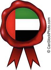 arabo, cera, unito, emirati, sigillo
