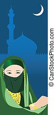 arabo, donna