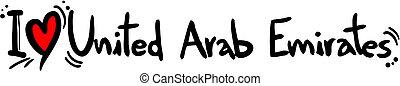 arabo, emirati, unito, amore