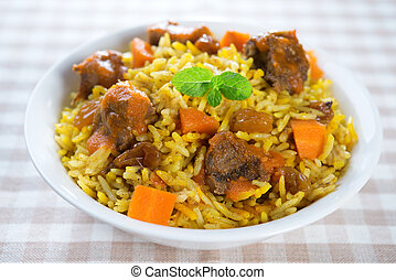 arabo, montone, rice.