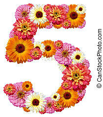 arabo, numerale, cinque