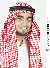 arabo, ritratto, giovane