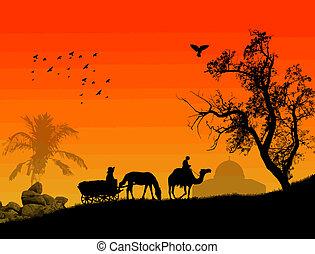 arabo, tramonto