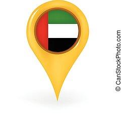 arabo, unito, emirati, posizione