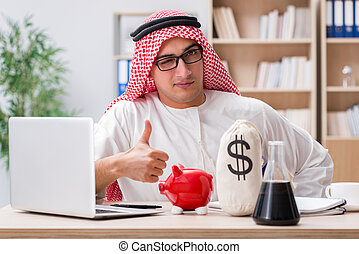 arabo, uomo affari, ufficio, lavorativo
