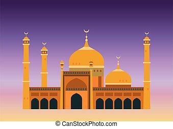 arabski, meczet