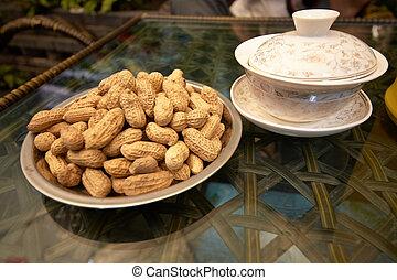 arachide, maison, chengdu, thé