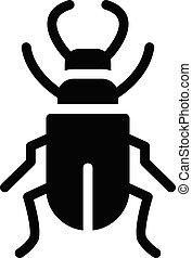 arachnid vector glyph flat icon