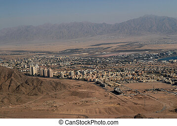 Arad, a city in the south of Israel on a mountain pass in the Judean Desert.