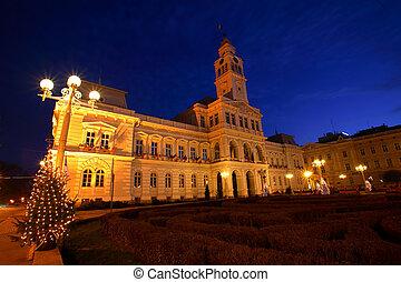 City Hall - Arad City Hall by night, Romania
