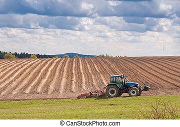 arada, tractor, archivado