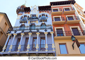 Aragon Teruel El Torico modernist building in Spain