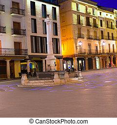 Aragon Teruel plaza el Torico Carlos Castel square Spain
