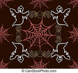 araignés, modèle, seamless, enchaînements
