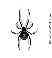 araignés, object., isolé, arrière-plan., vecteur, noir, blanc