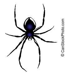 araignés, vector.