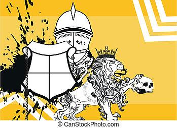 araldico, background4, leone