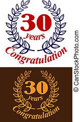 araldico, emblema, anniversario
