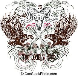 araldico, emblema, disegno