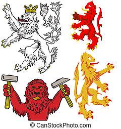 araldico, leone