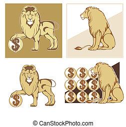 araldico, leoni